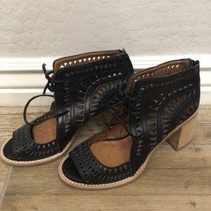 Booties wedge heels